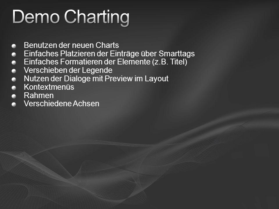 Demo Charting Benutzen der neuen Charts