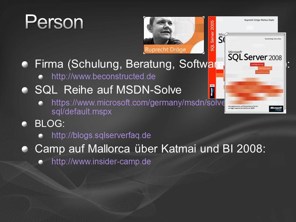 Person Firma (Schulung, Beratung, Softwareentwicklung):