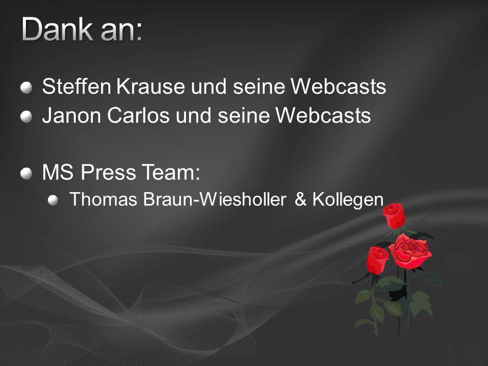 Dank an: Steffen Krause und seine Webcasts
