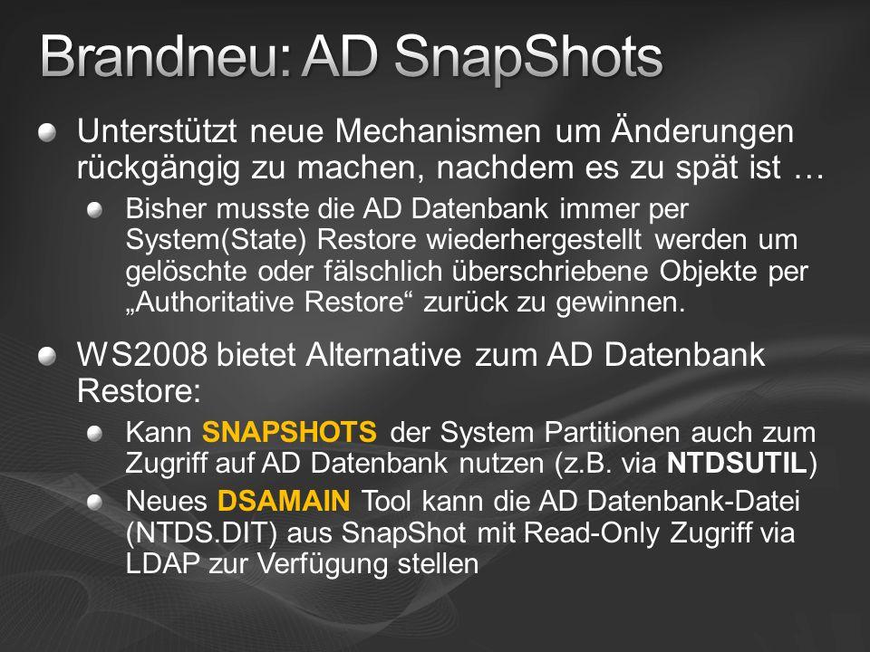 Brandneu: AD SnapShots