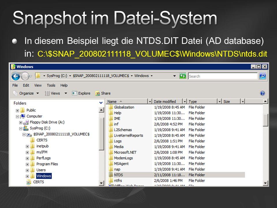 Snapshot im Datei-System