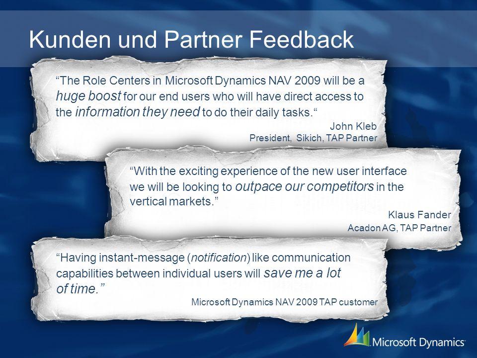 Kunden und Partner Feedback