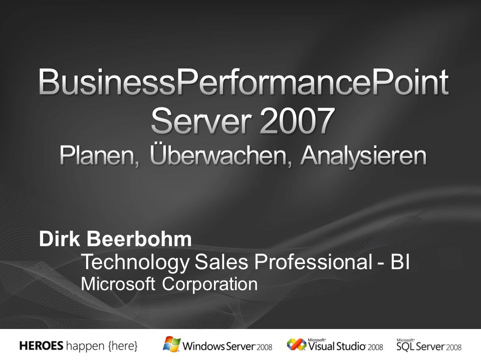 BusinessPerformancePoint Server 2007 Planen, Überwachen, Analysieren