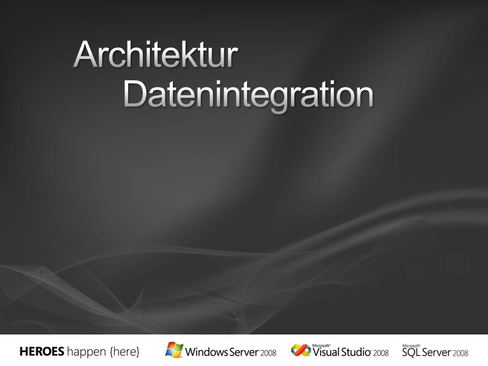 Architektur Datenintegration