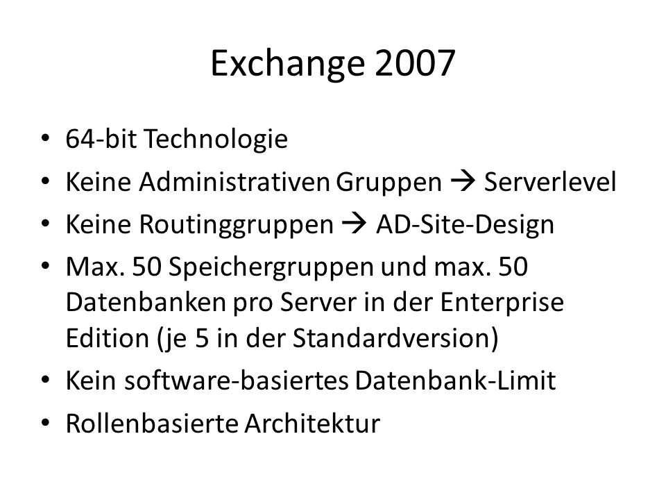 Exchange bit Technologie
