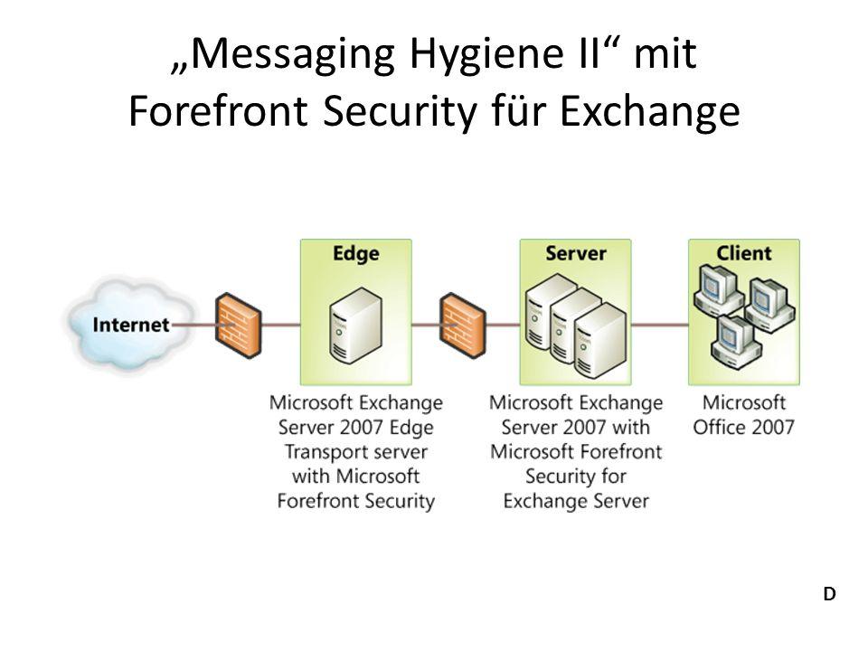 """""""Messaging Hygiene II mit Forefront Security für Exchange"""