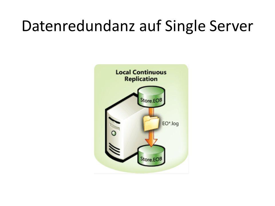 Datenredundanz auf Single Server