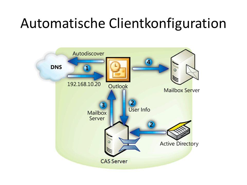 Automatische Clientkonfiguration