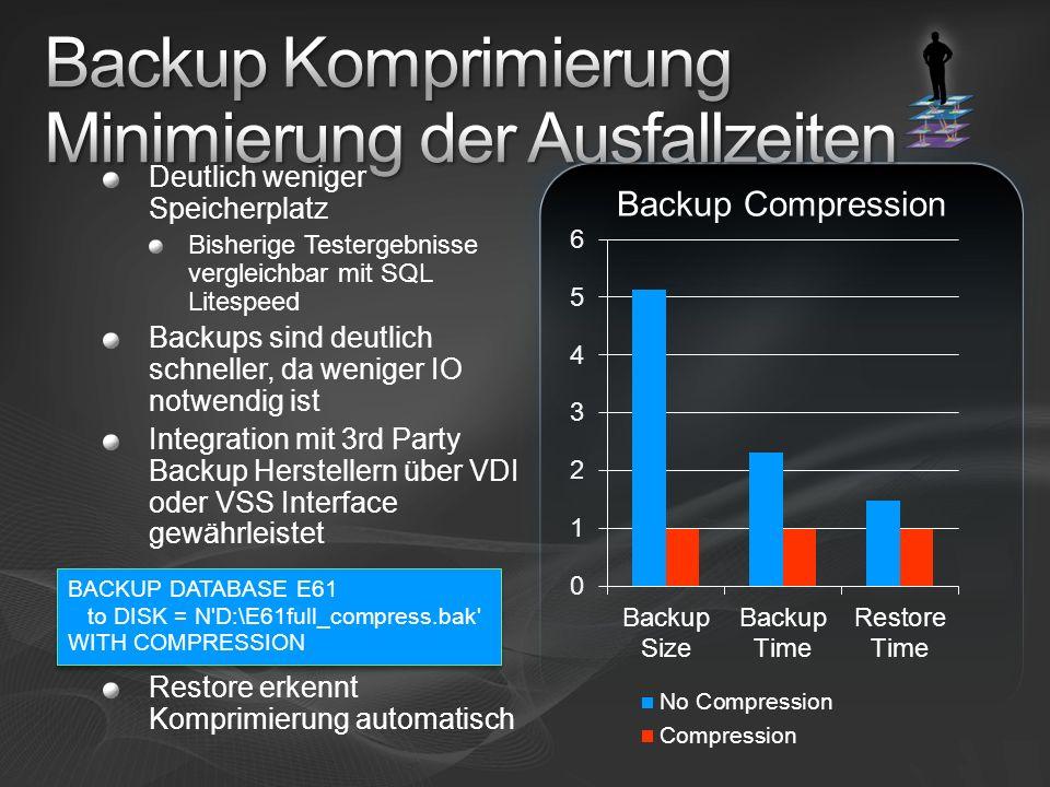 Backup Komprimierung Minimierung der Ausfallzeiten