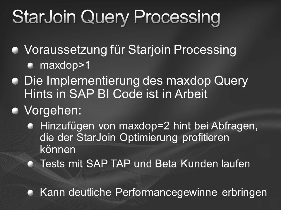 StarJoin Query Processing