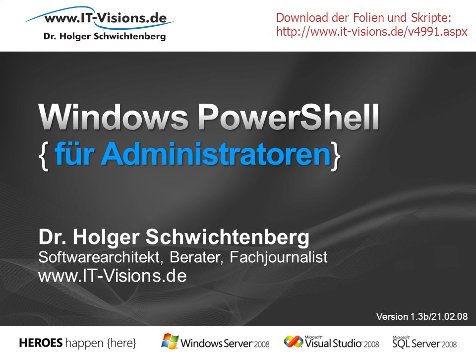 Windows PowerShell { für Administratoren}