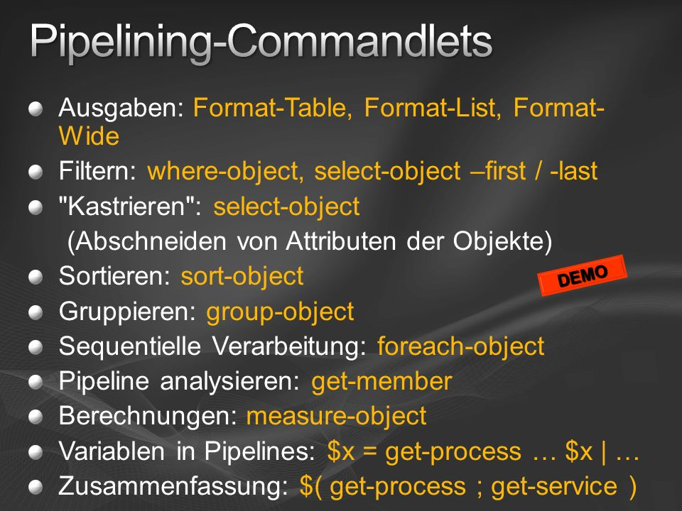 Pipelining-Commandlets