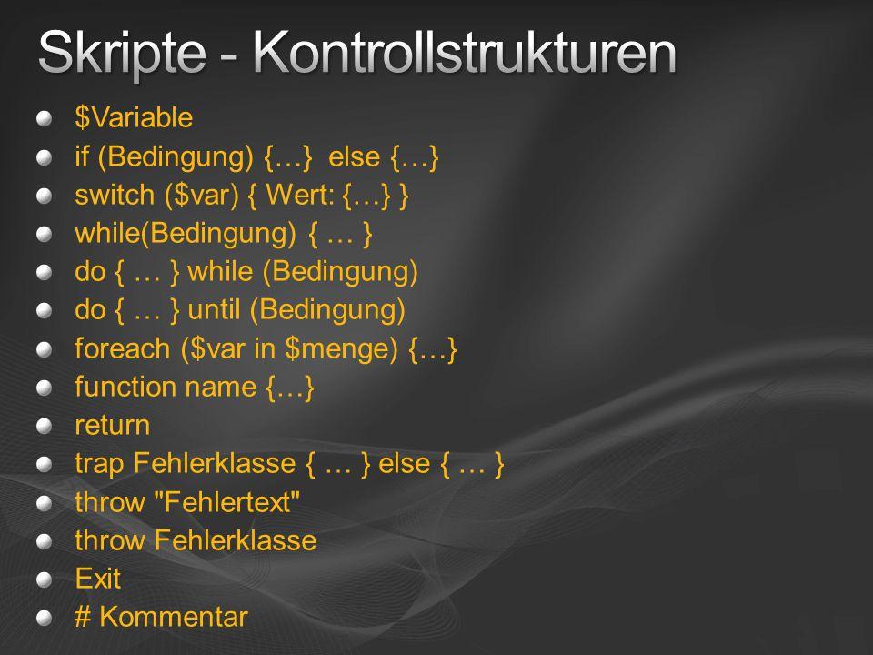 Skripte - Kontrollstrukturen