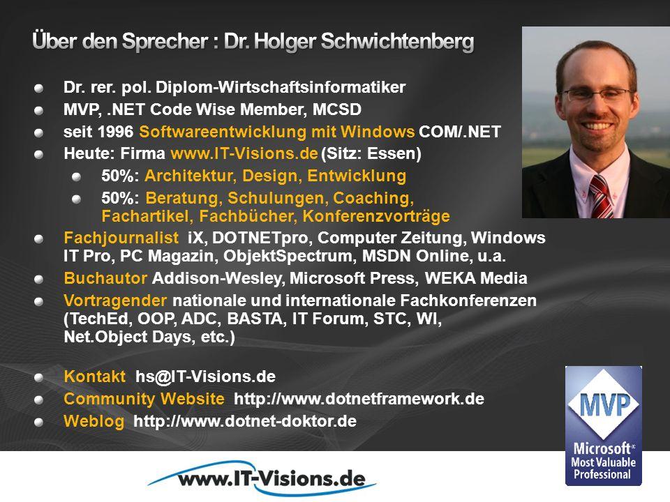 Über den Sprecher : Dr. Holger Schwichtenberg