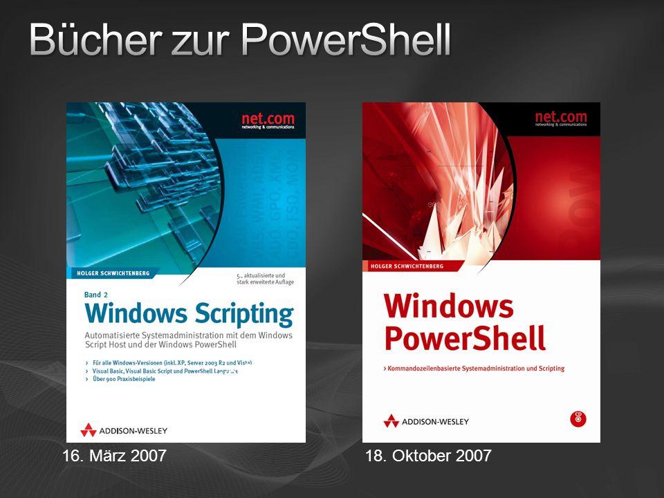 Bücher zur PowerShell 150 Seiten zur PowerShell 16. März 2007