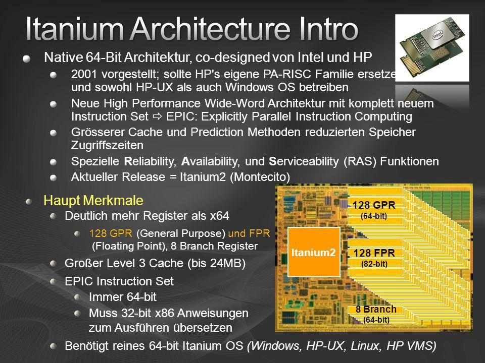Itanium Architecture Intro