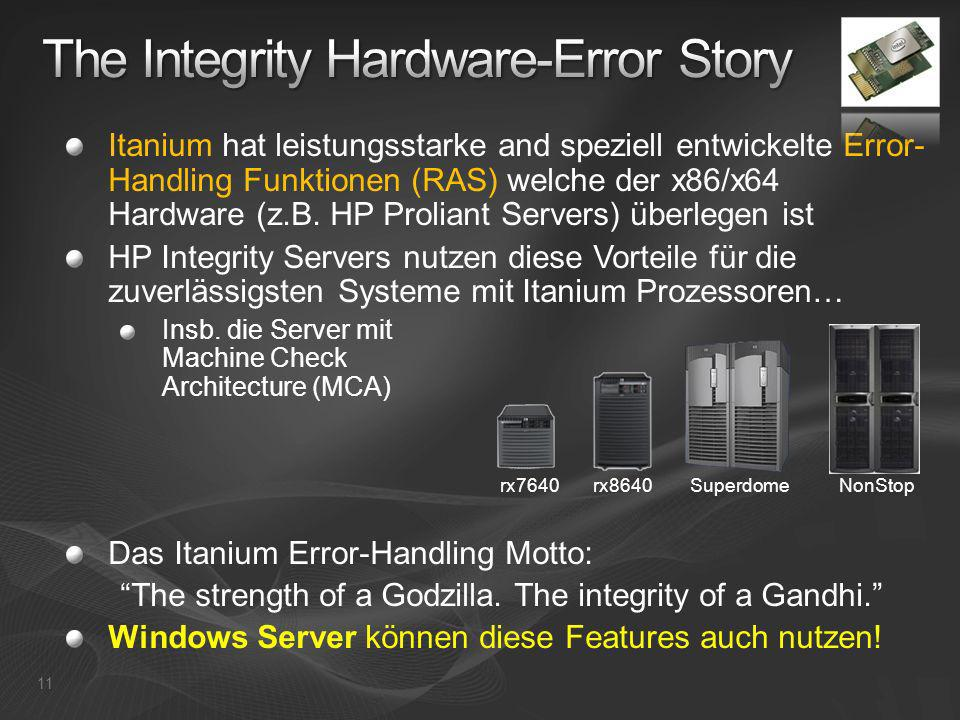 The Integrity Hardware-Error Story