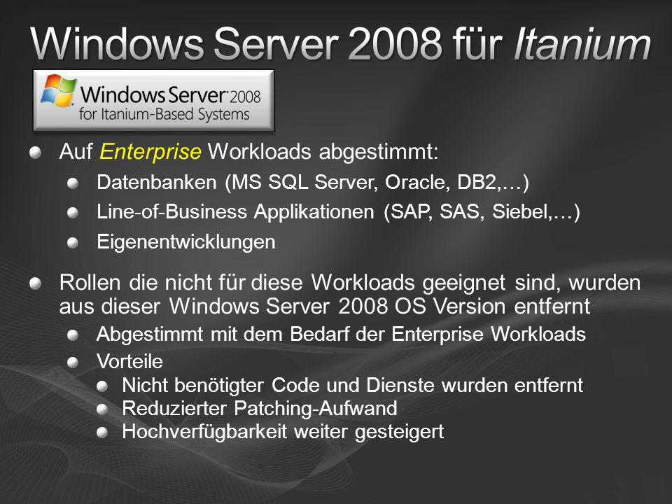 Windows Server 2008 für Itanium