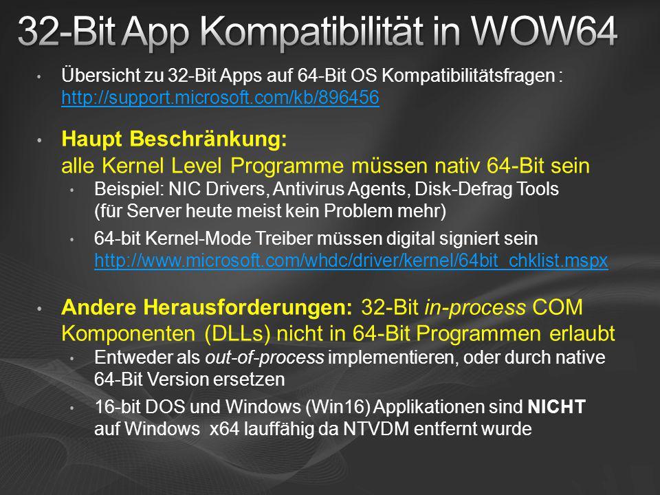 32-Bit App Kompatibilität in WOW64