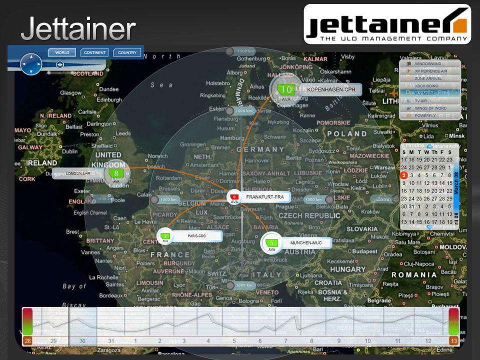 Jettainer Weltweites Management von Luftfrachtcontainern