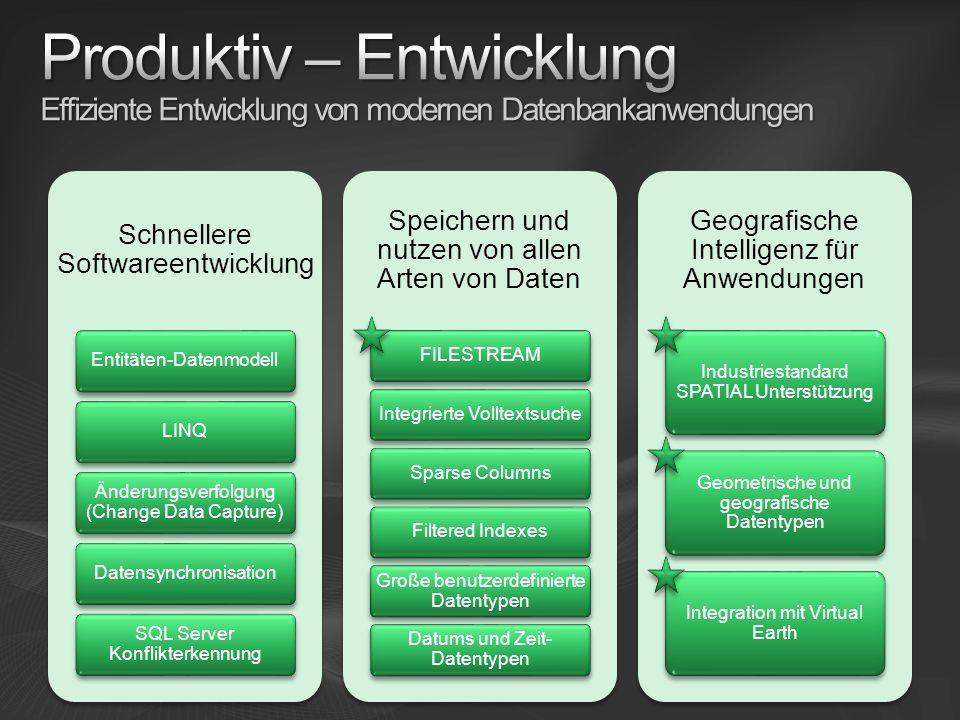 Produktiv – Entwicklung Effiziente Entwicklung von modernen Datenbankanwendungen