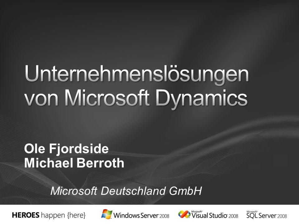 Unternehmenslösungen von Microsoft Dynamics