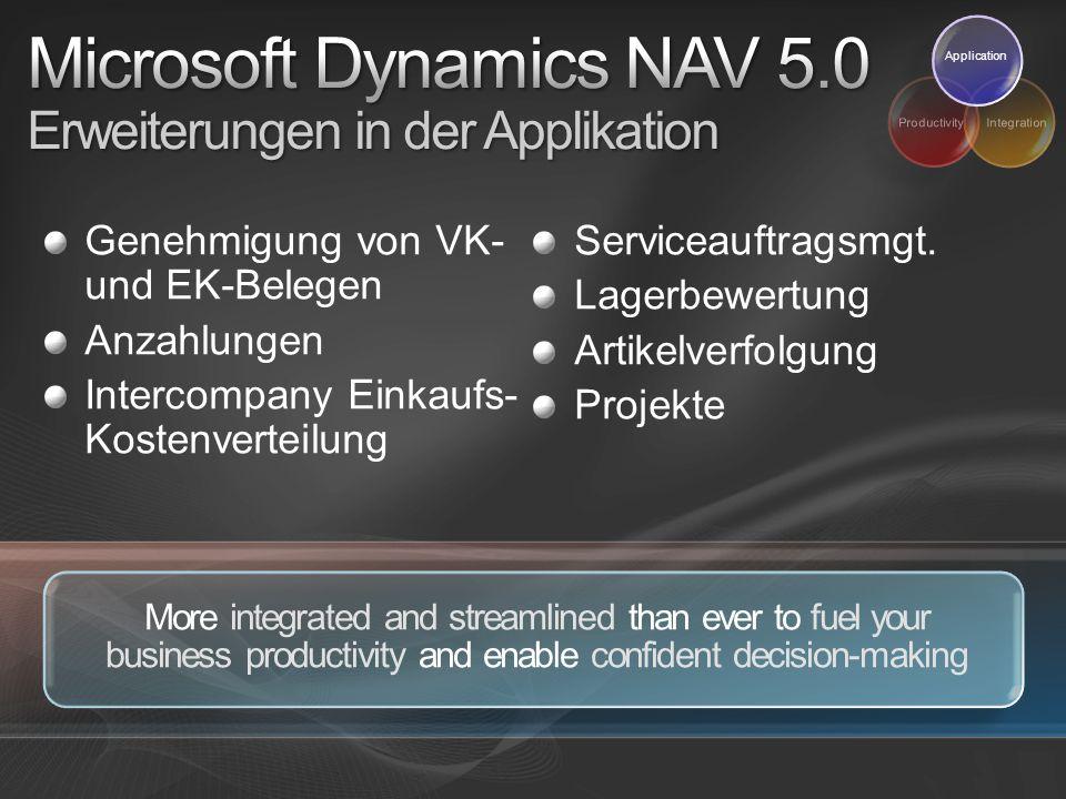 Microsoft Dynamics NAV 5.0 Erweiterungen in der Applikation