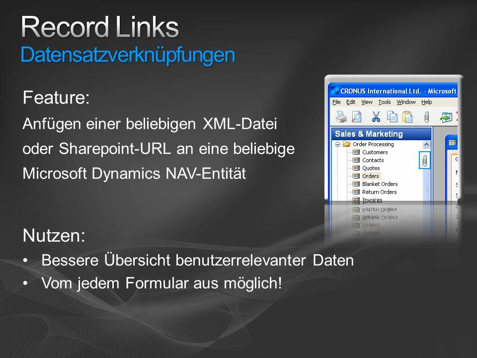 Record Links Datensatzverknüpfungen
