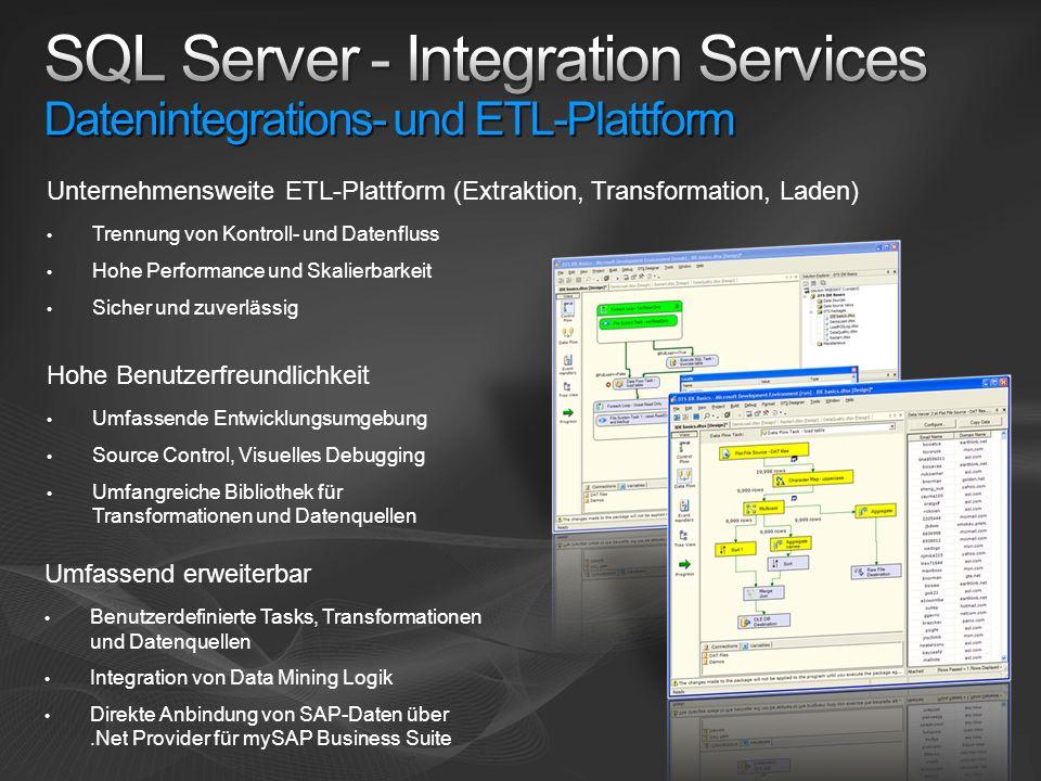 SQL Server - Integration Services Datenintegrations- und ETL-Plattform
