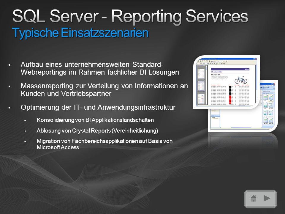 SQL Server - Reporting Services Typische Einsatzszenarien
