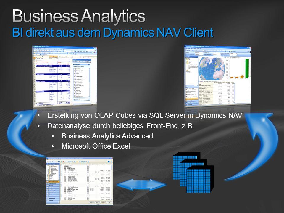 Business Analytics BI direkt aus dem Dynamics NAV Client