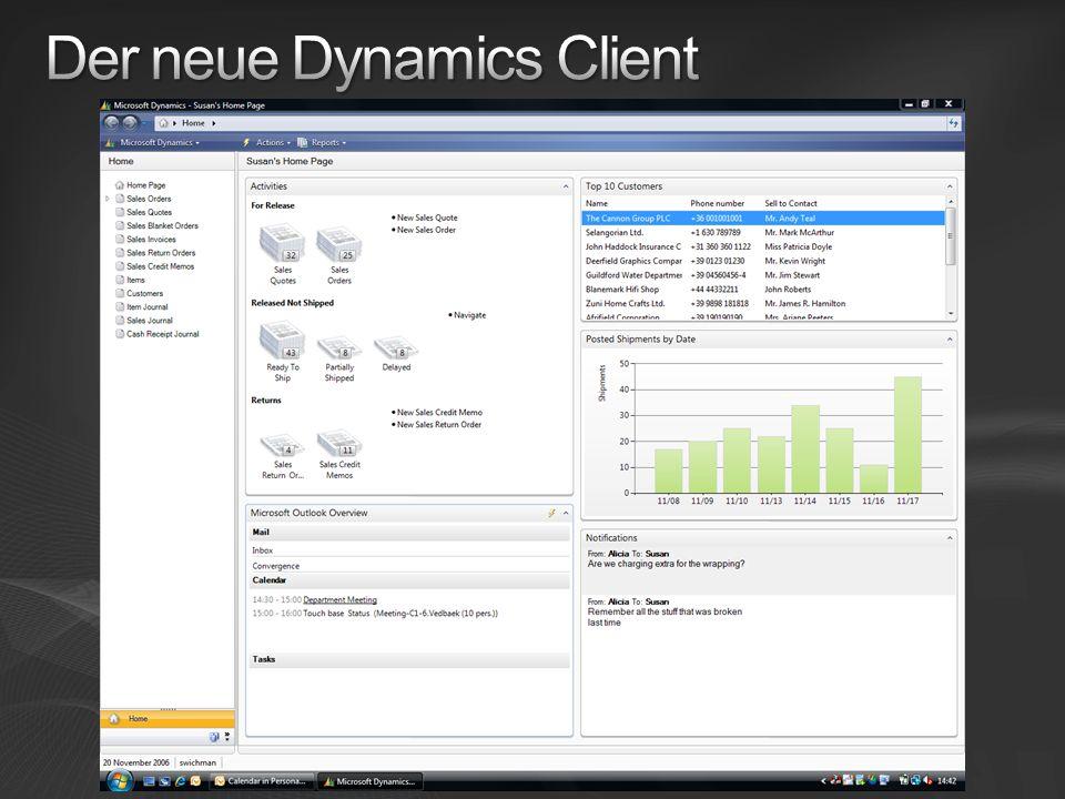 Der neue Dynamics Client