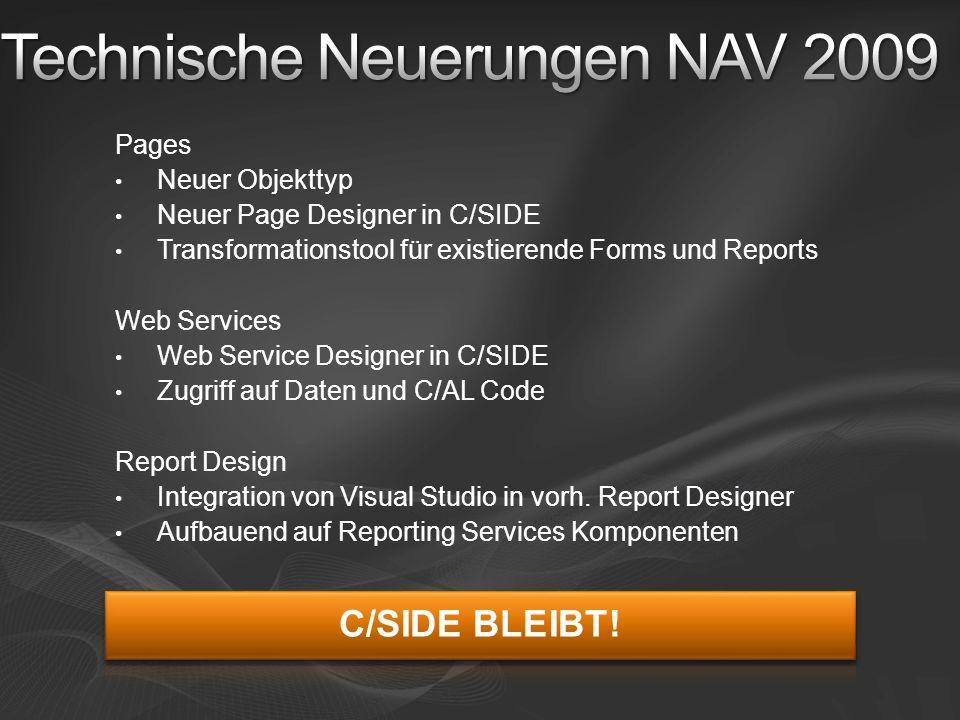 Technische Neuerungen NAV 2009