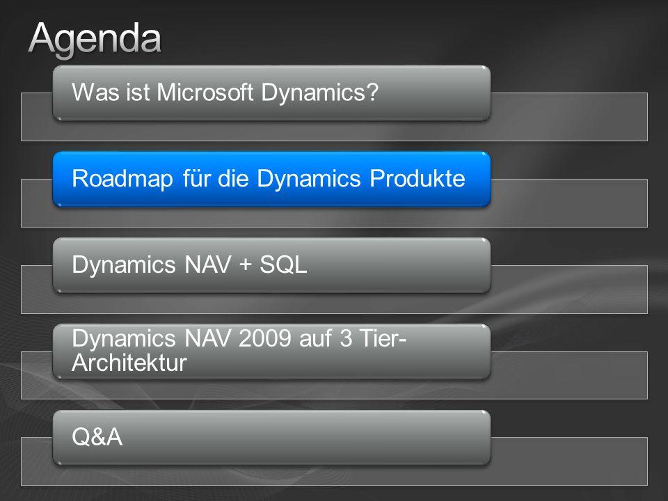 Agenda Was ist Microsoft Dynamics Roadmap für die Dynamics Produkte