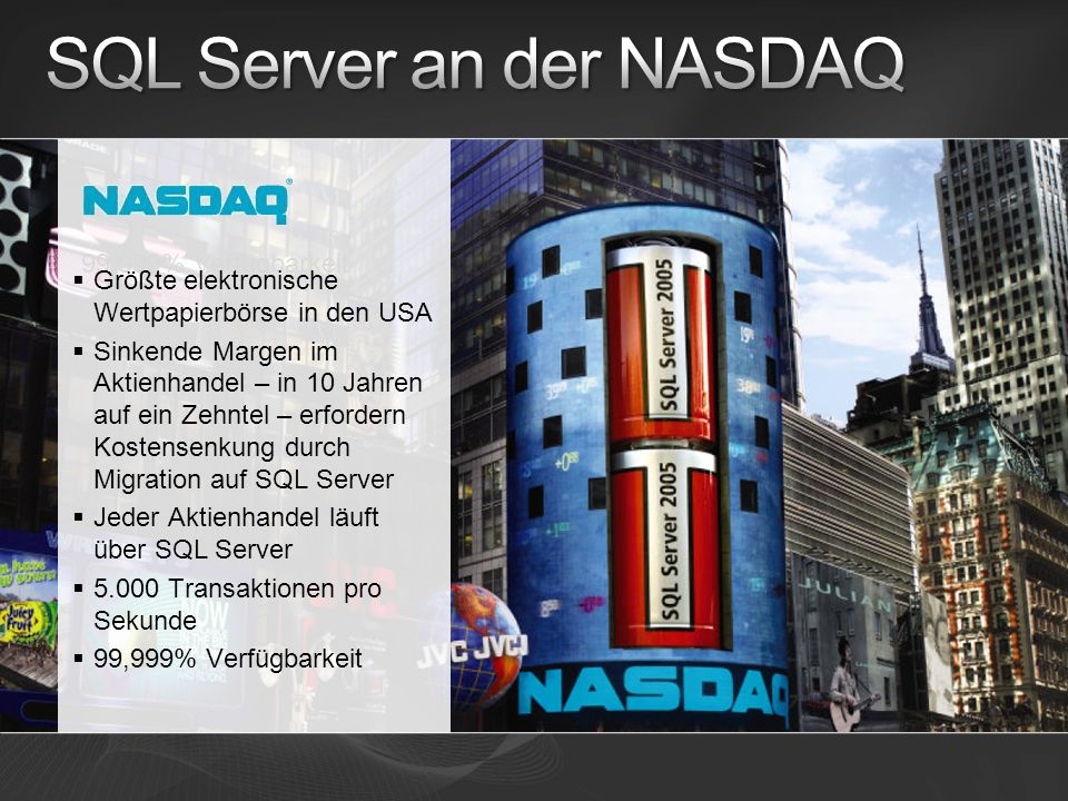 SQL Server an der NASDAQ