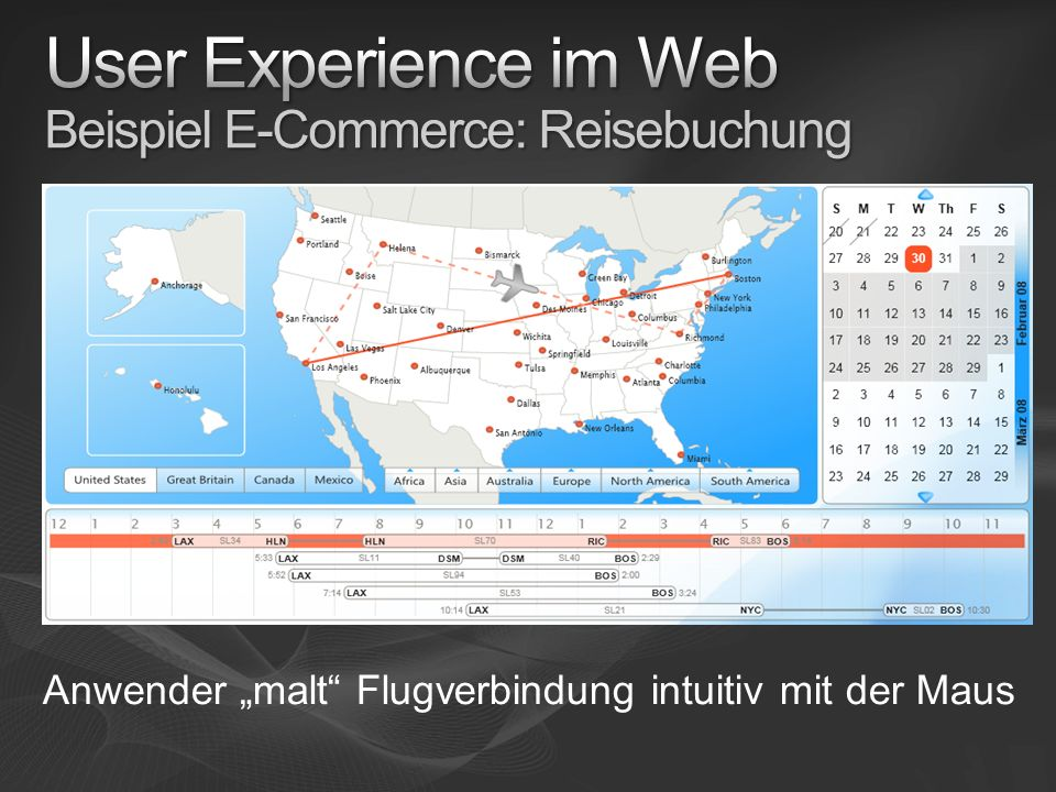 User Experience im Web Beispiel E-Commerce: Reisebuchung
