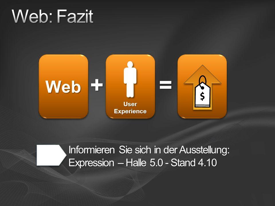Web: Fazit + User Experience.  Web.