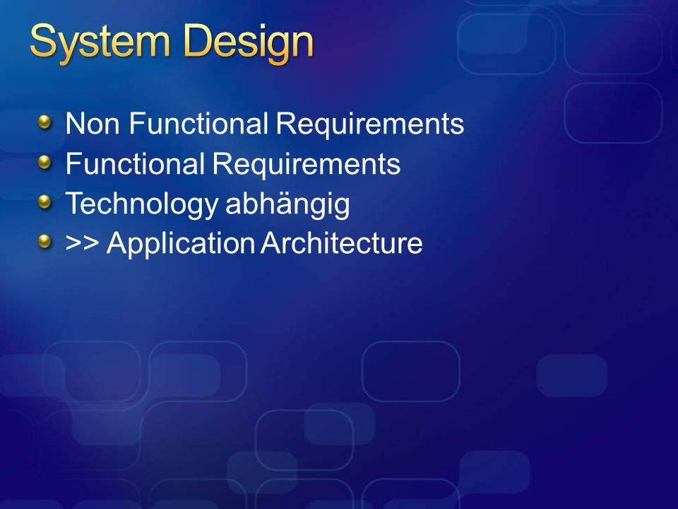 System Design Non Functional Requirements Functional Requirements