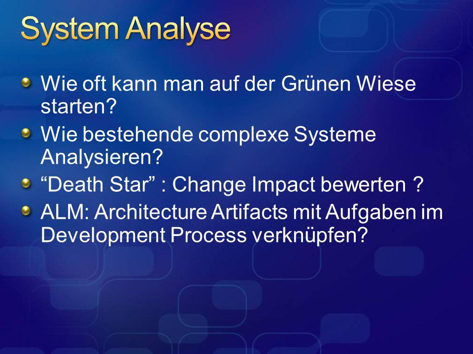 System Analyse Wie oft kann man auf der Grünen Wiese starten