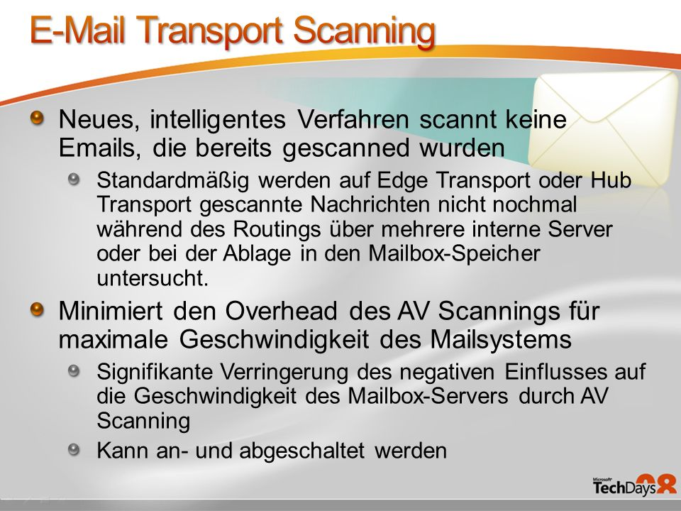 E-Mail Transport Scanning