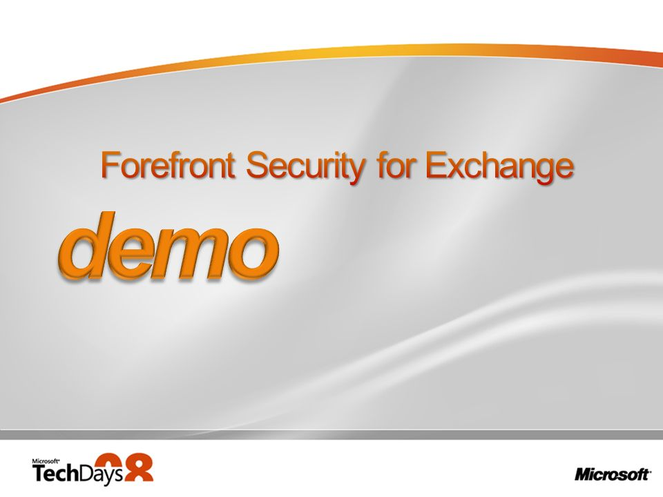 Forefront Security for Exchange