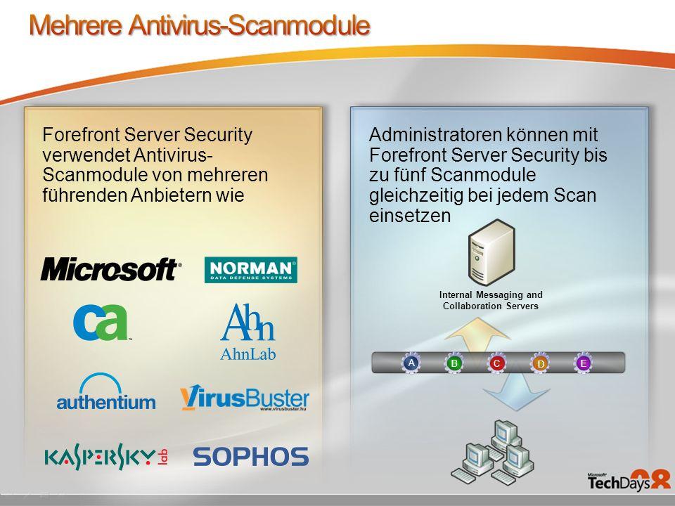 Mehrere Antivirus-Scanmodule