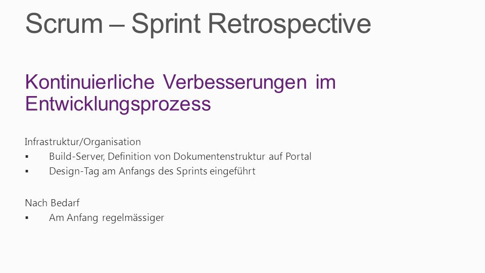 Scrum – Sprint Retrospective