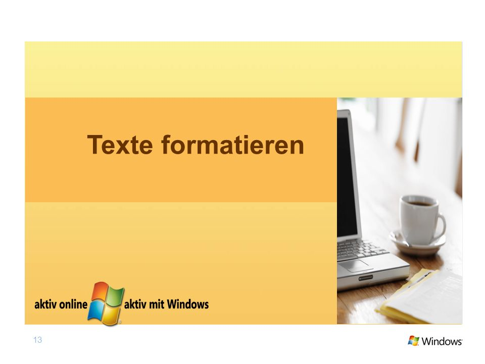 Texte formatieren