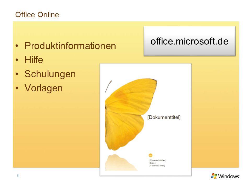 Produktinformationen Hilfe Schulungen Vorlagen