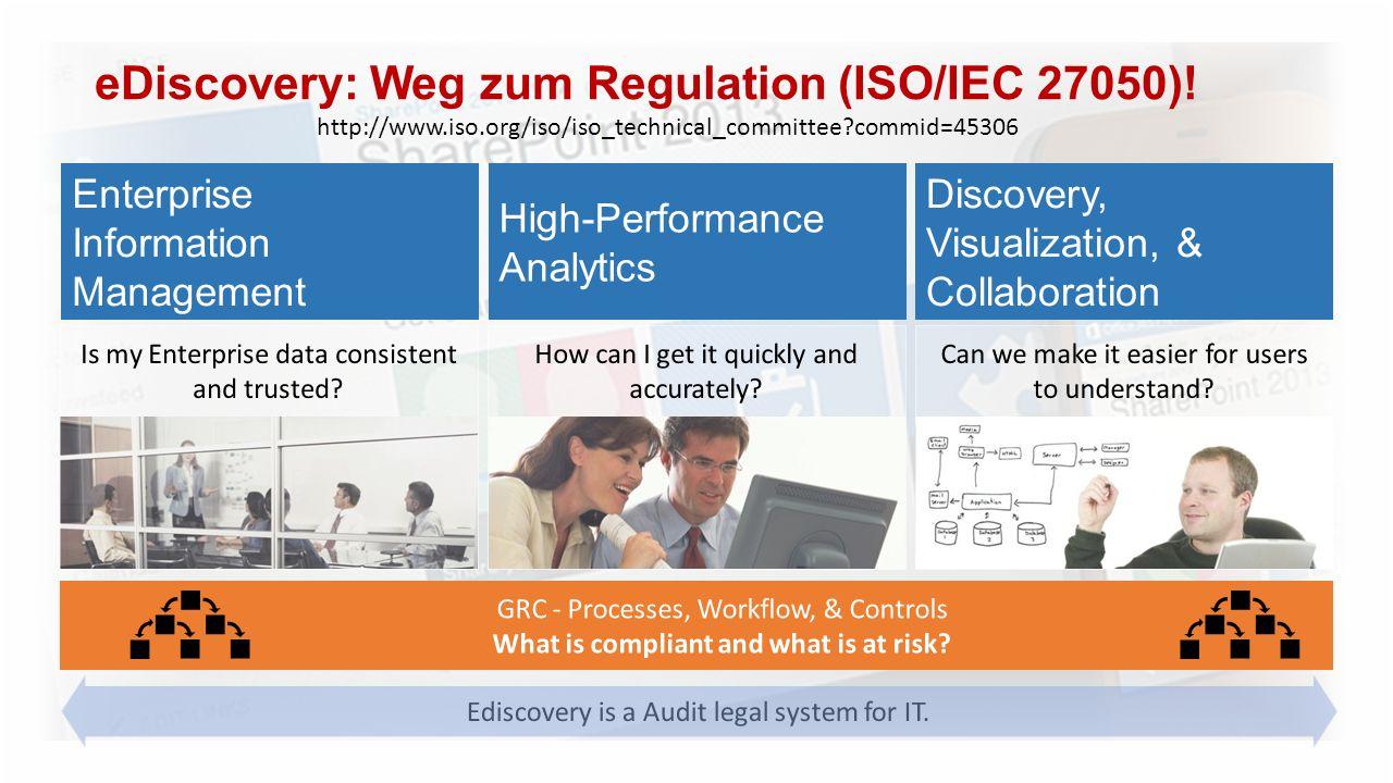 eDiscovery: Weg zum Regulation (ISO/IEC 27050)!