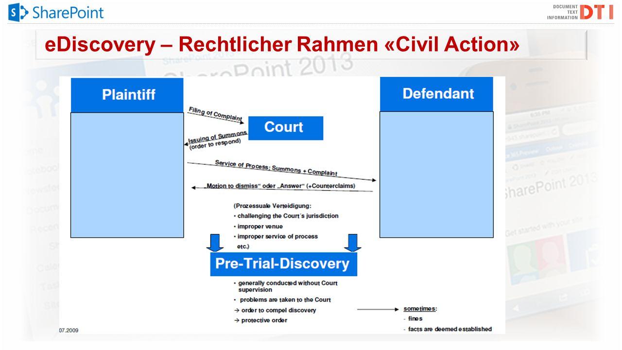 eDiscovery – Rechtlicher Rahmen «Civil Action»