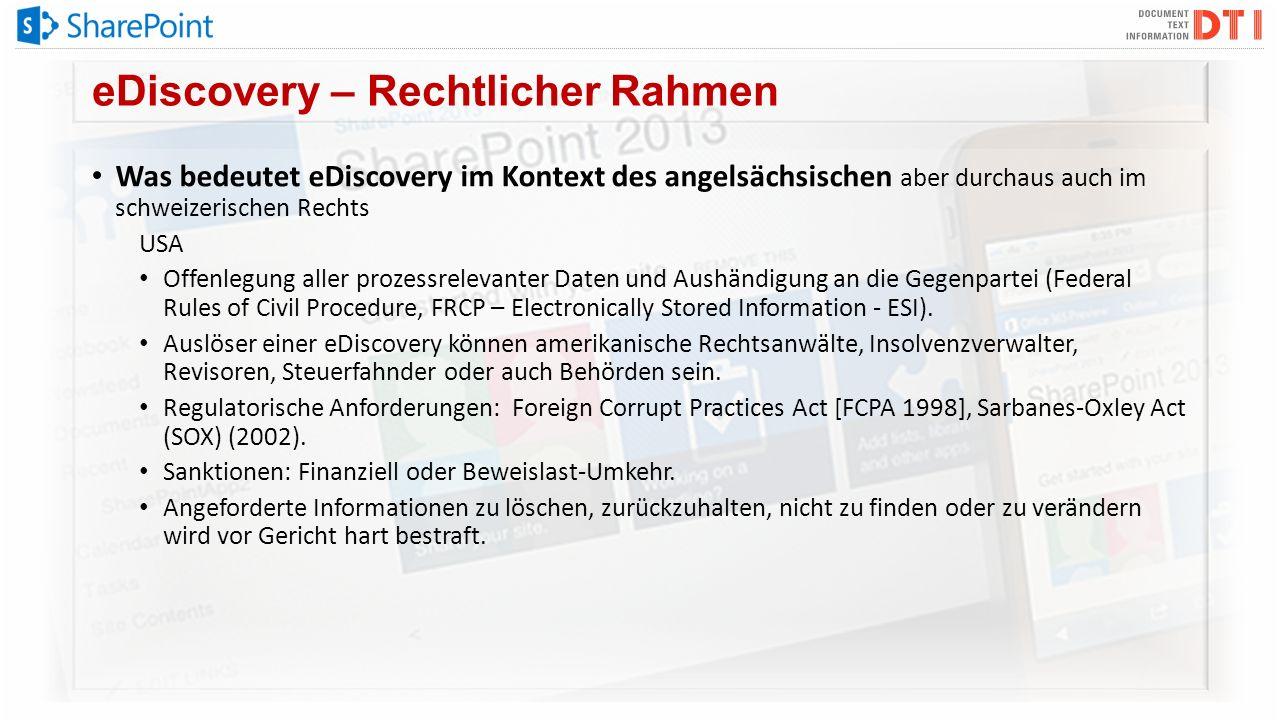 eDiscovery – Rechtlicher Rahmen