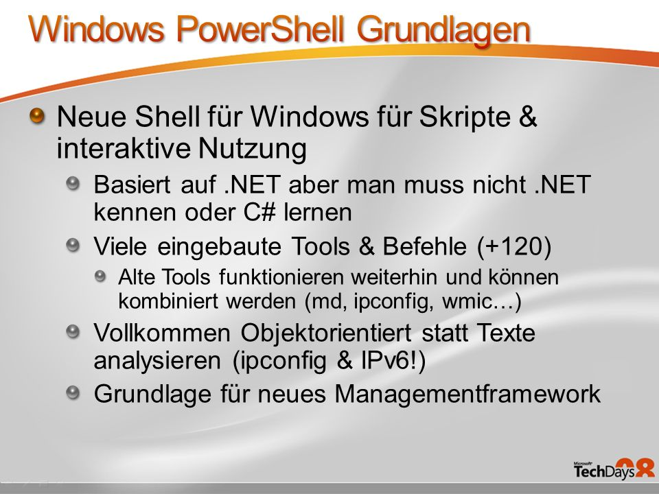 Windows PowerShell Grundlagen
