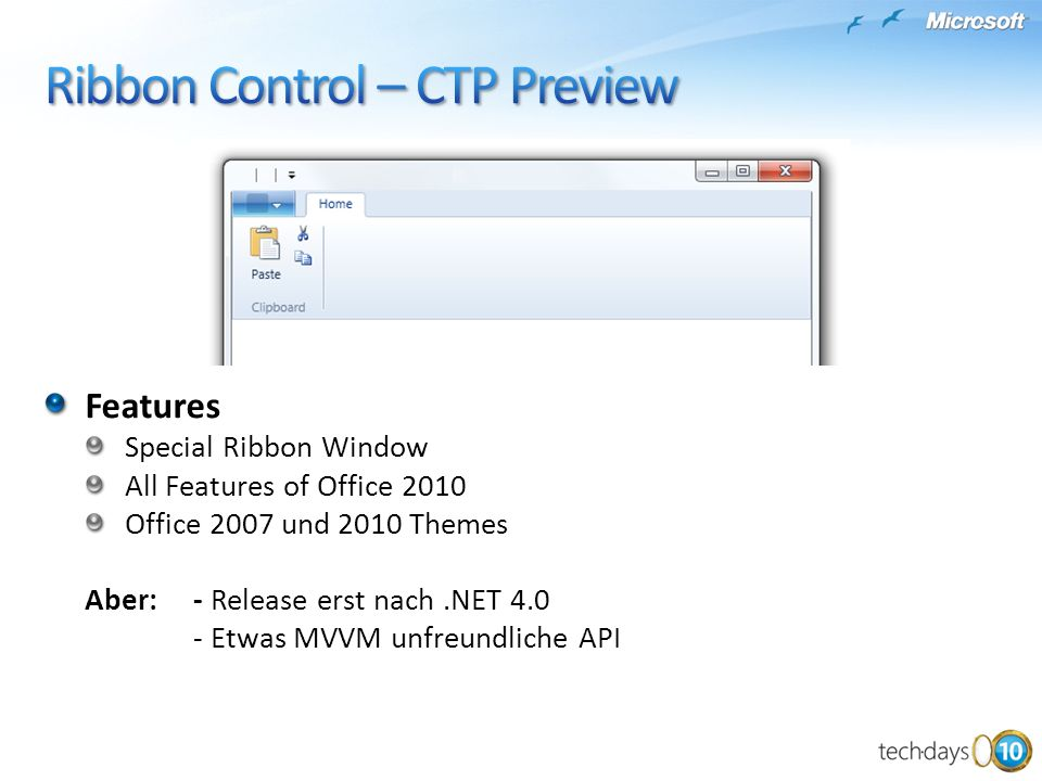 Ribbon Control – CTP Preview